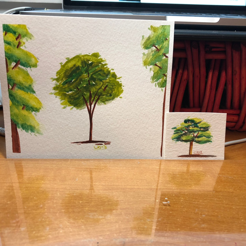 Watercolor – Trees