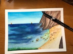 Ocean View 1d watercolor