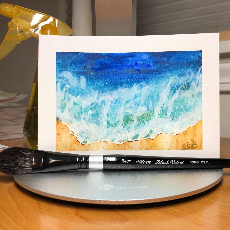 Watercolor – Ocean Wave