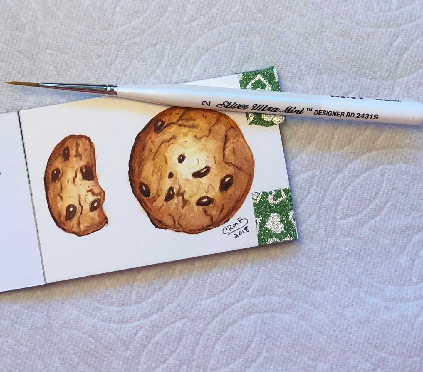 Watercolor – Chocolate Chip Cookie
