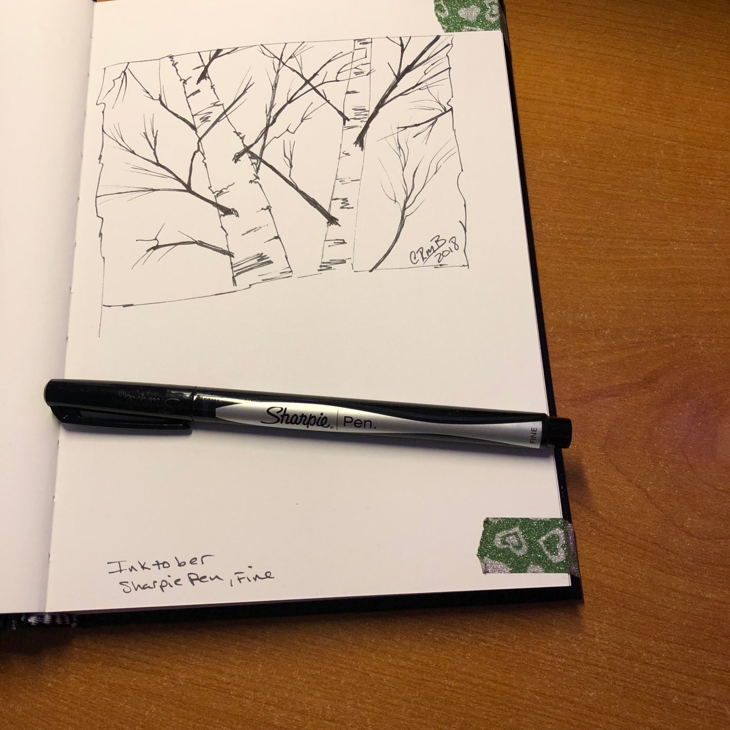 Sketch – Birch Trees