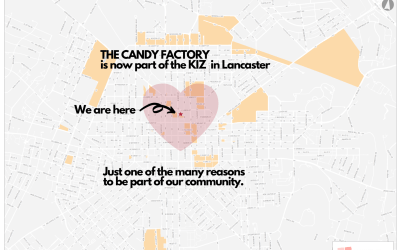 The Candy Factory is now within the newly expanded Lancaster City Keystone Innovation Zone – KIZ