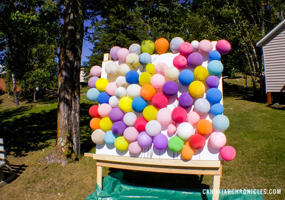 Make Your Own Balloon Dart Art Painting