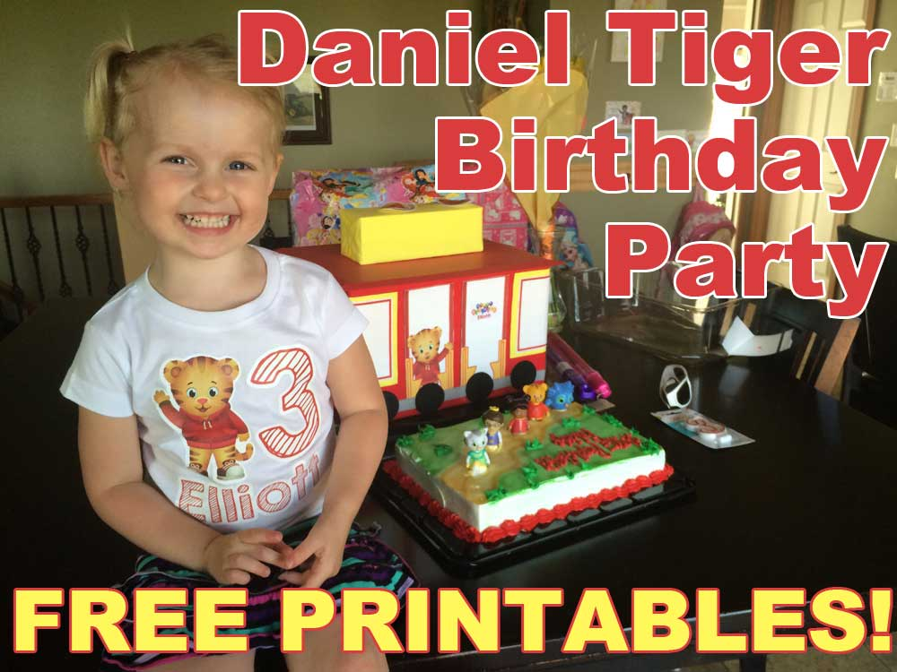 Daniel Tiger Birthday Party With Free Printables