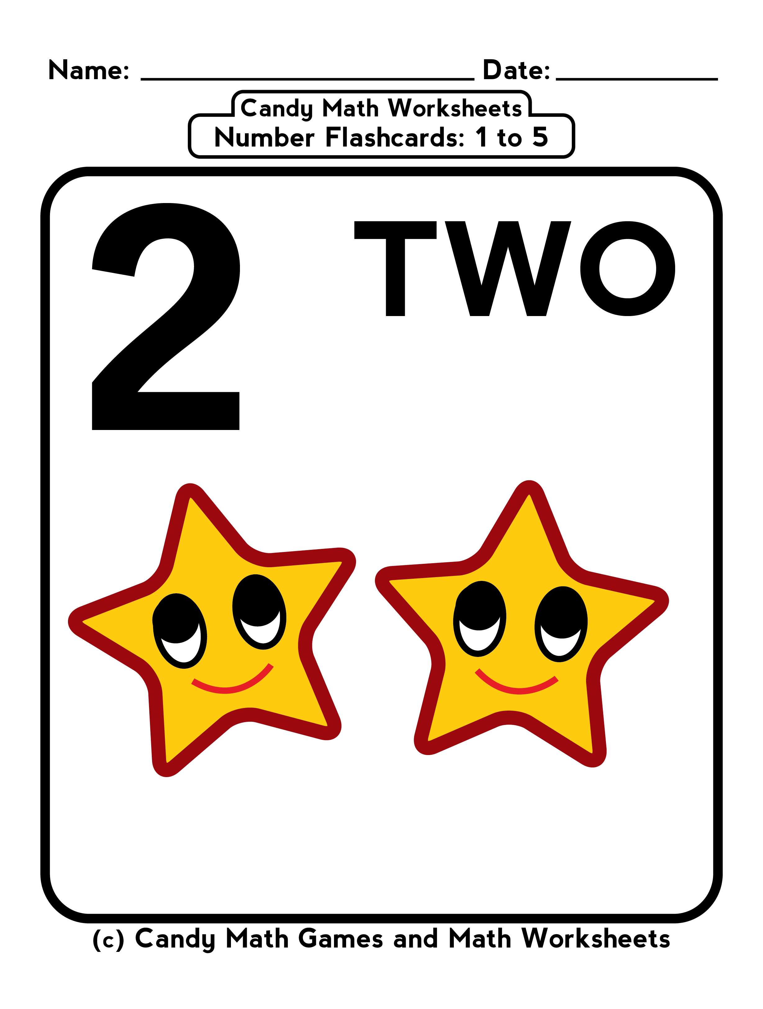 5 Free Math Worksheets And Counting Flashcards For Kids