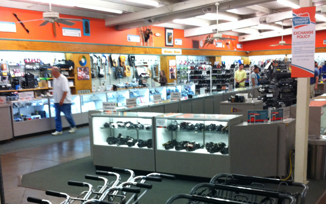 The Electronics Section with Cases of Cameras