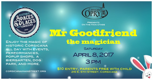 Mr Goodfriend Magician Flier