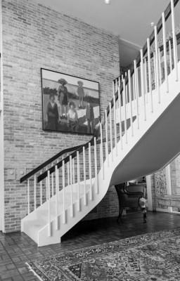 4316 Arcady stairs B&W