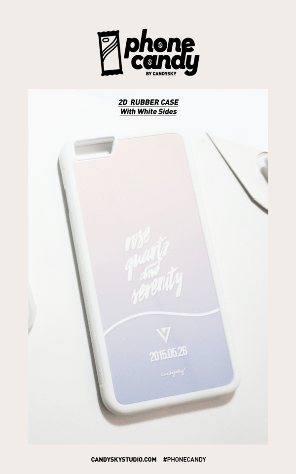 2D Rubber Case - White Sides