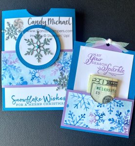 Snowflake Splendor Pocket Card with a twist