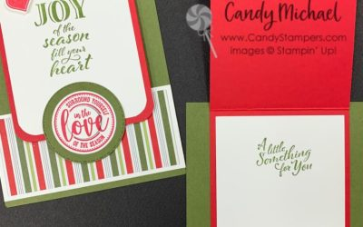 Candy's Fun Gift Card Holder with New Holiday Products