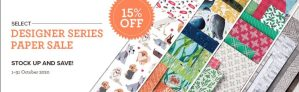 Stampin' Up! Designer Series Paper Sale October 1-31, 2020