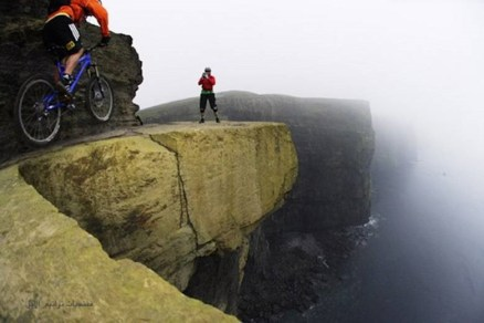 Biking on the Cliffs of Moher