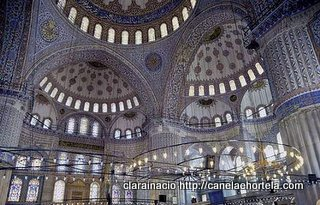 mesquita azul-interior