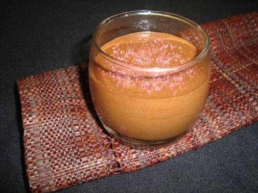 mousse au chocolat noir et à la fleur d'oranger