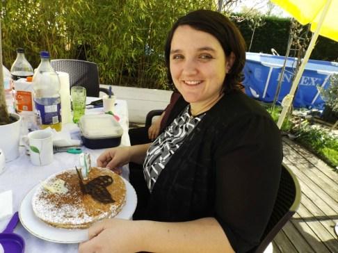 Gâteau au chocolat blanc et aux fraises2