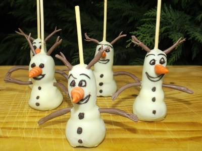 Cakes pops Olaf5