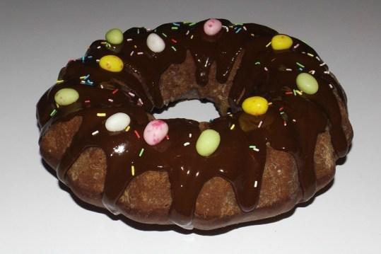 Chiffon cake au chocolat pour Pâques