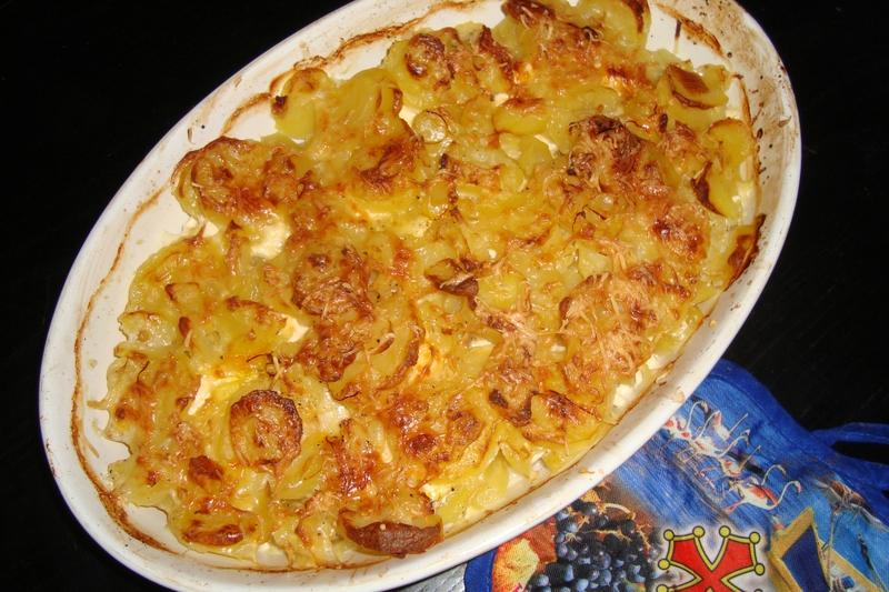 Gratin de pommes de terre au safran et au mascarpone