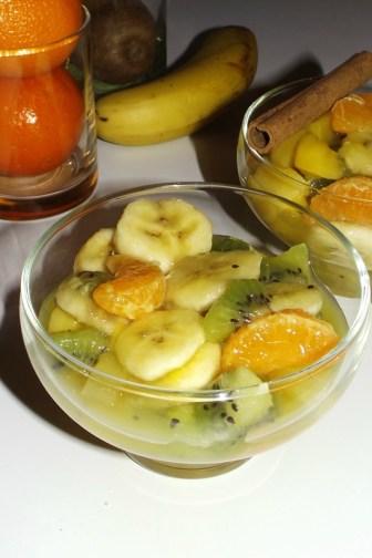 Salade de fruits exotiques au vinaigre à la pulpe de Fruit de la Passion2