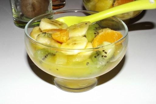 Salade de fruits exotiques au vinaigre à la pulpe de Fruit de la Passion3