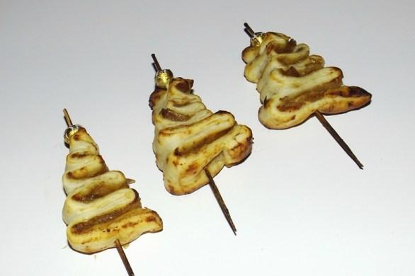 Sapin feuilleté ( au foie gras et au confit d'oignons )