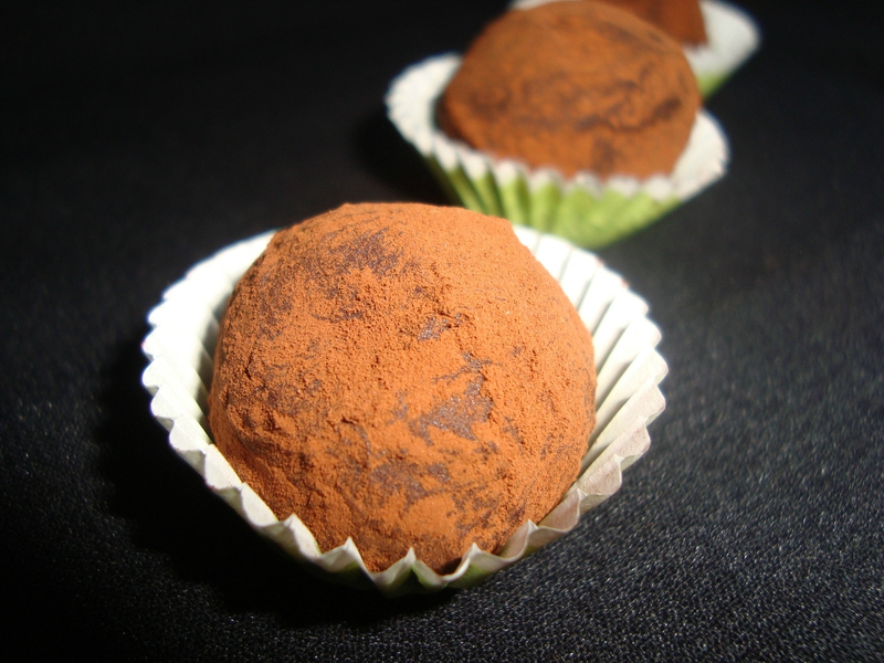 Truffes au chocolat noir ultra simple2