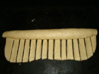 Brioche au Nutella en forme de chenille7