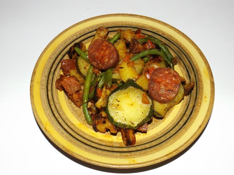 Poêlée de pommes de terre et de légumes façon basquaise3