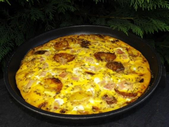 Tortilla espagnole au jambon ( au four )