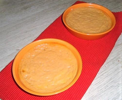 crème dessert à la courge aux épices et au rhum