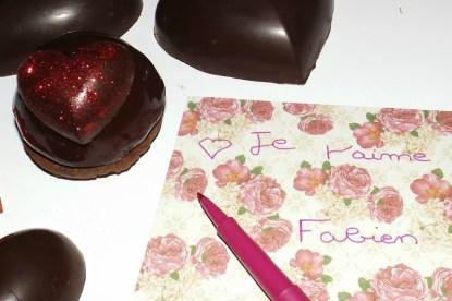 dômes bavaroises poire chocolat pour la st-valentin 2