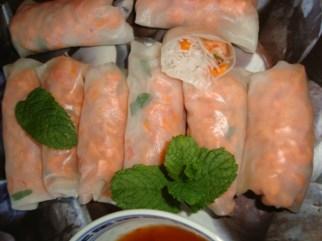 rouleaux de printemps classiques ( crevettes, carotte et menthe )3