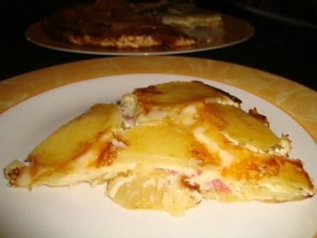 Gâteau de pommes de terre, rosette et reblochon2