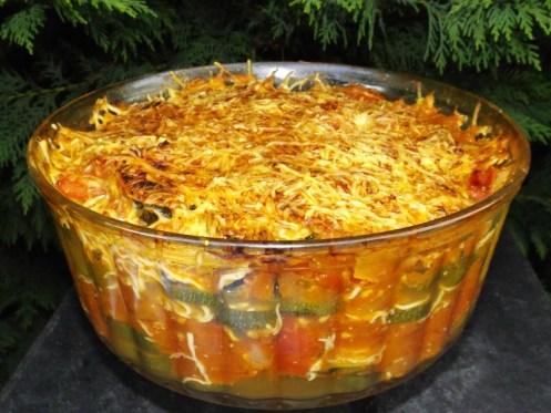 Gratin à la provençale ( courgettes, tomates et tapenade ).jpg