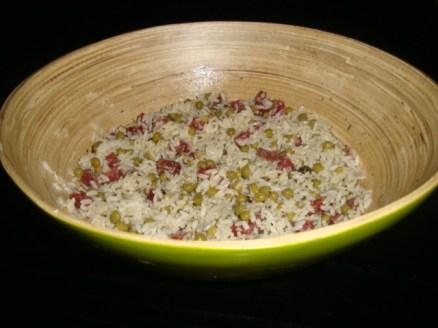 Salade de riz au saucisson