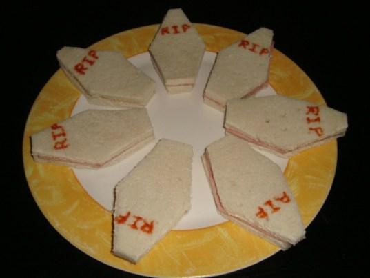 Sandwich cercueil (Halloween)