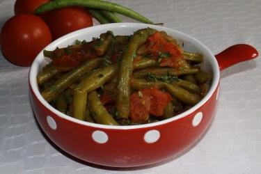 Haricots verts à la tomate2