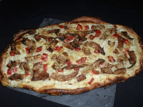 Pizza aux oignons façon kebab