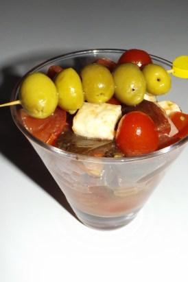 Salade aux 3 tomates, jambon cru et mozzarella2