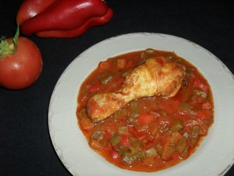 Sauté de poulet aux poivrons