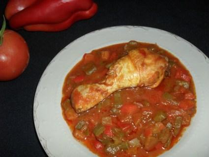 Sauté de poulet aux poivrons2