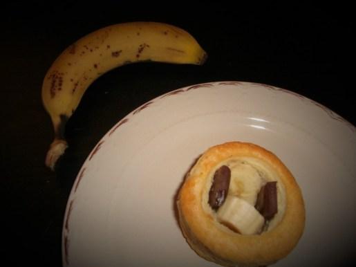 Vols au Vent sucrée ( banane chocolat )
