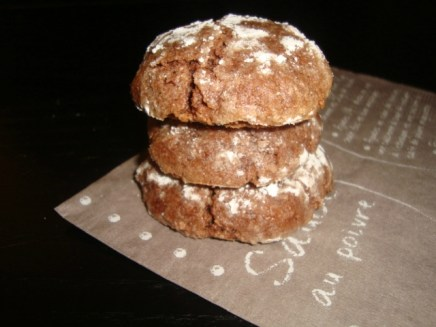 Amaretti au chocolat ( macaron italien ).jpg