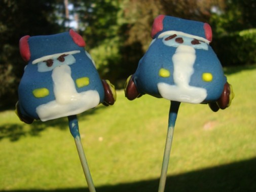 Cake pops robocar poli ( Poli et Ambre )3