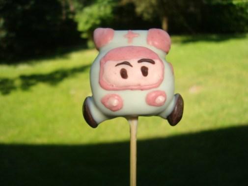 Cake pops robocar poli ( Poli et Ambre )8