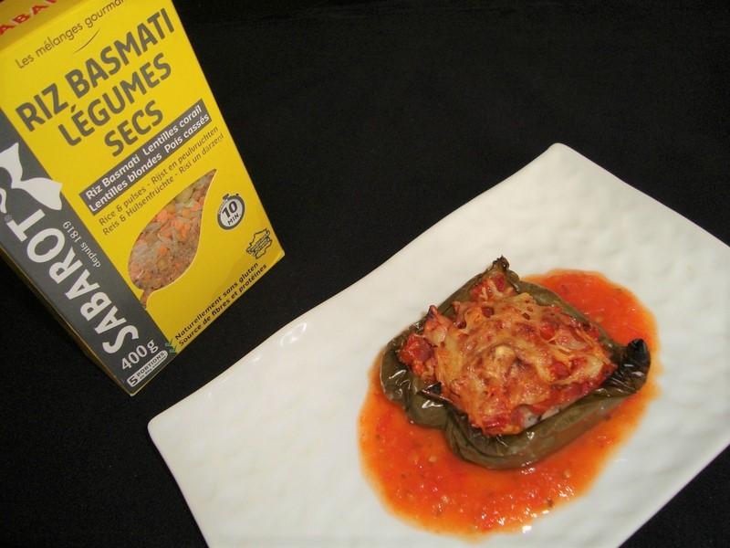 Poivron farci au riz basmati et à la tomate ( recette Veggie )3