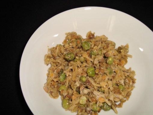 Riz basmati et légumes secs aux petits pois et au curry ( recette Veggie )2