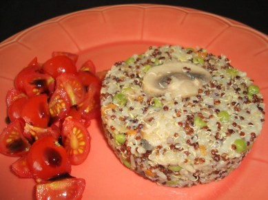 Riz des deux mondes aux petits légumes ( recette Veggie )2