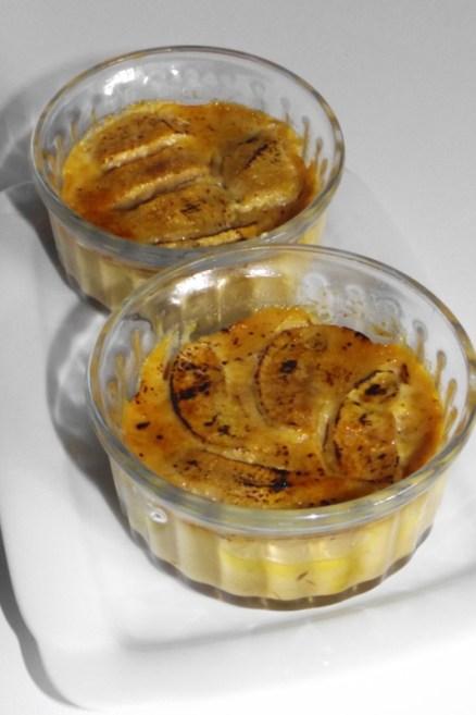Crème aux pommes et au caramel au beurre salé façon crème brûlée